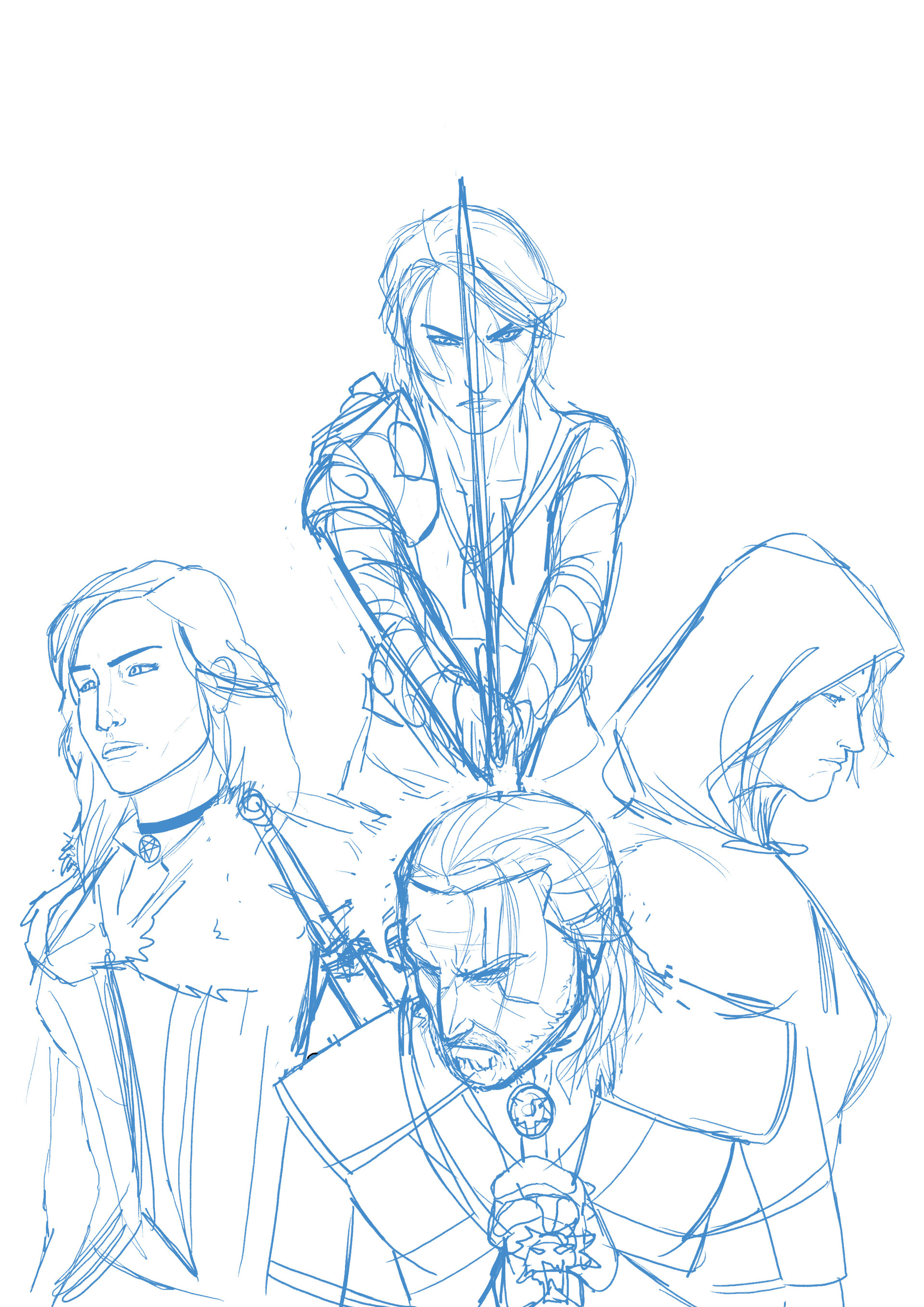 Elliot balson thewitcher3 roughs