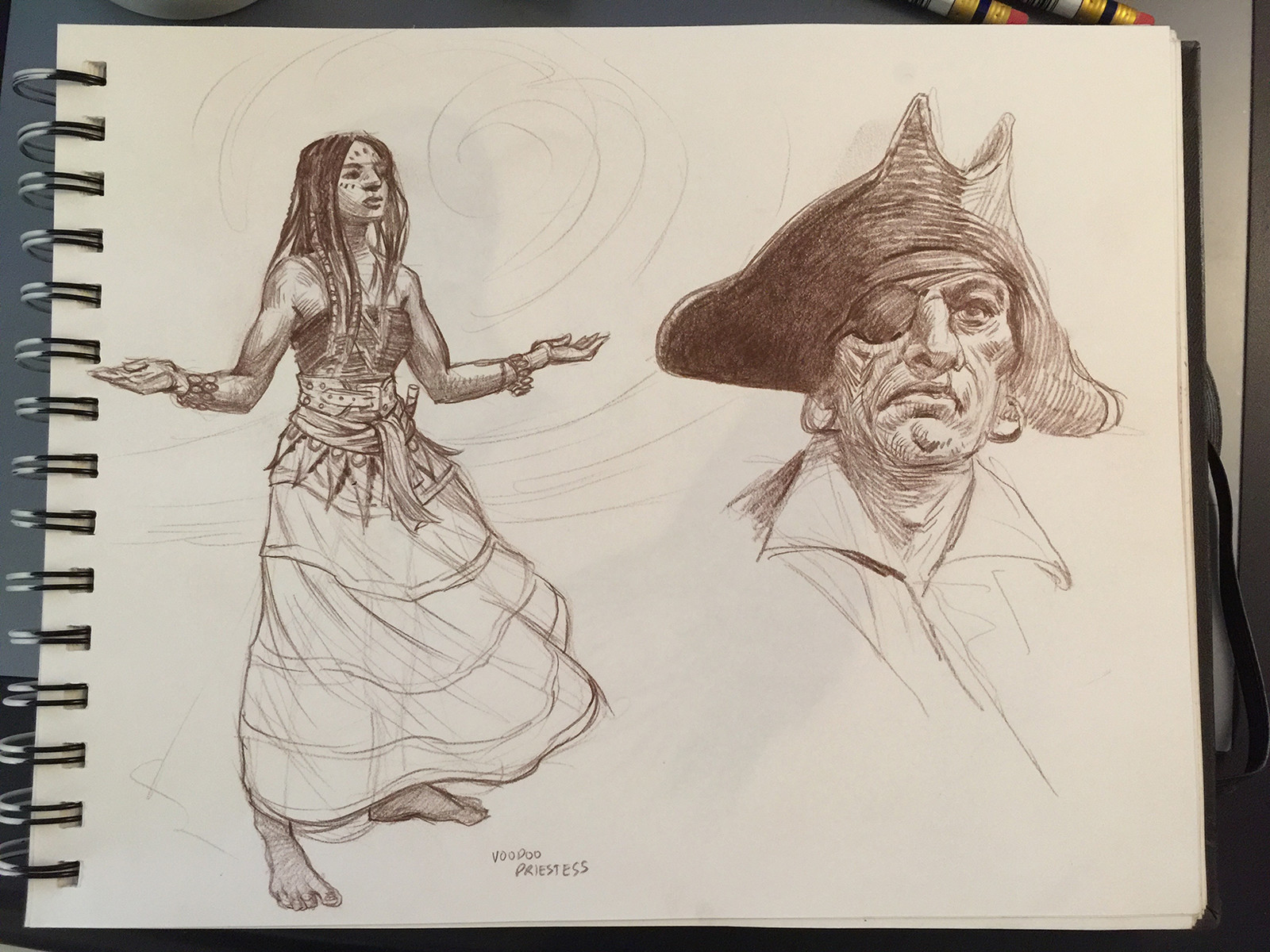 Voodoo Priestess and a Pirate.