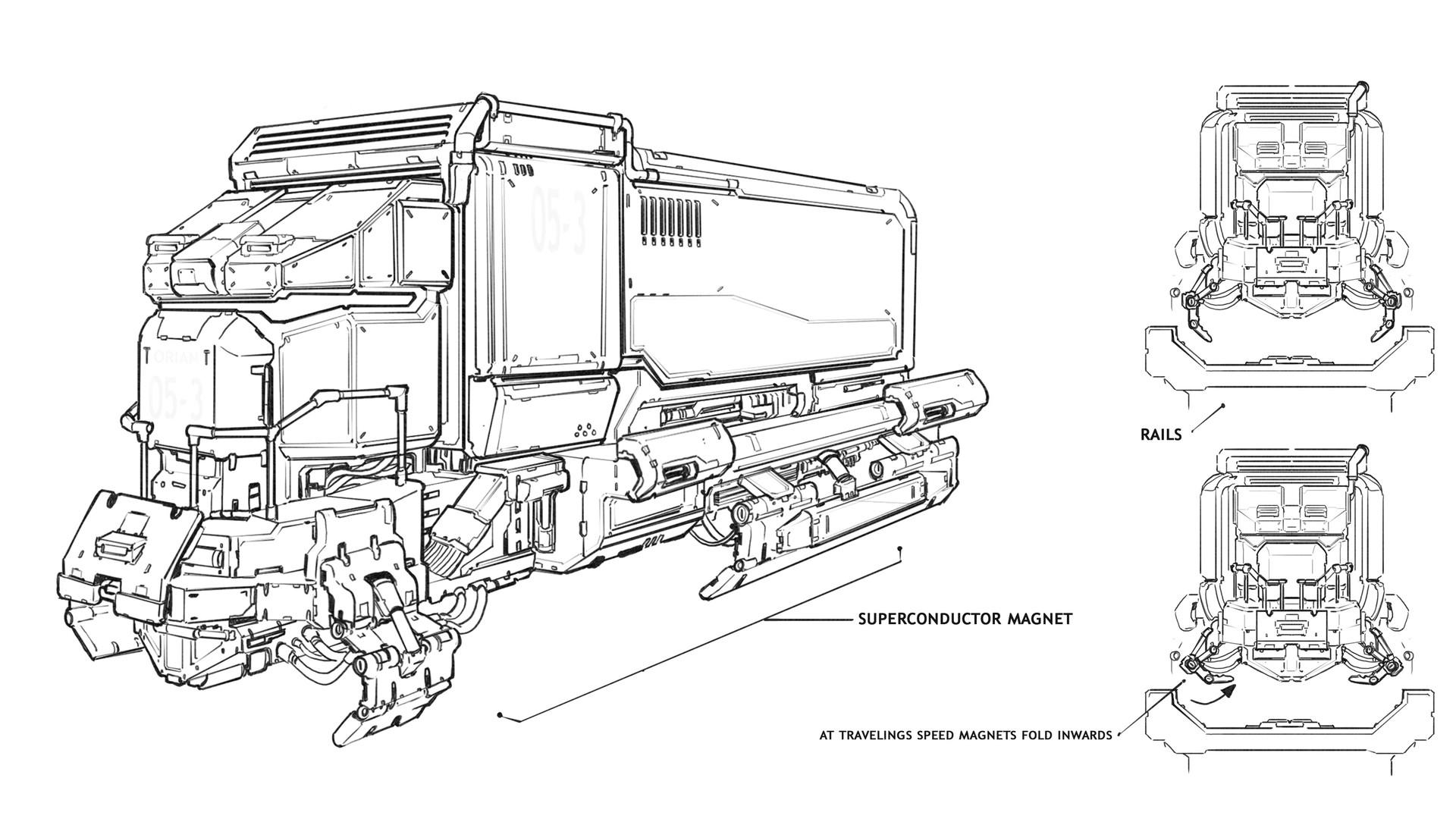Timo peter railcar illustration bw