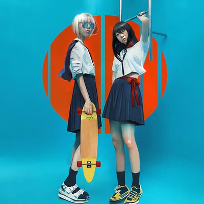 Chloe veillard school japonese girl
