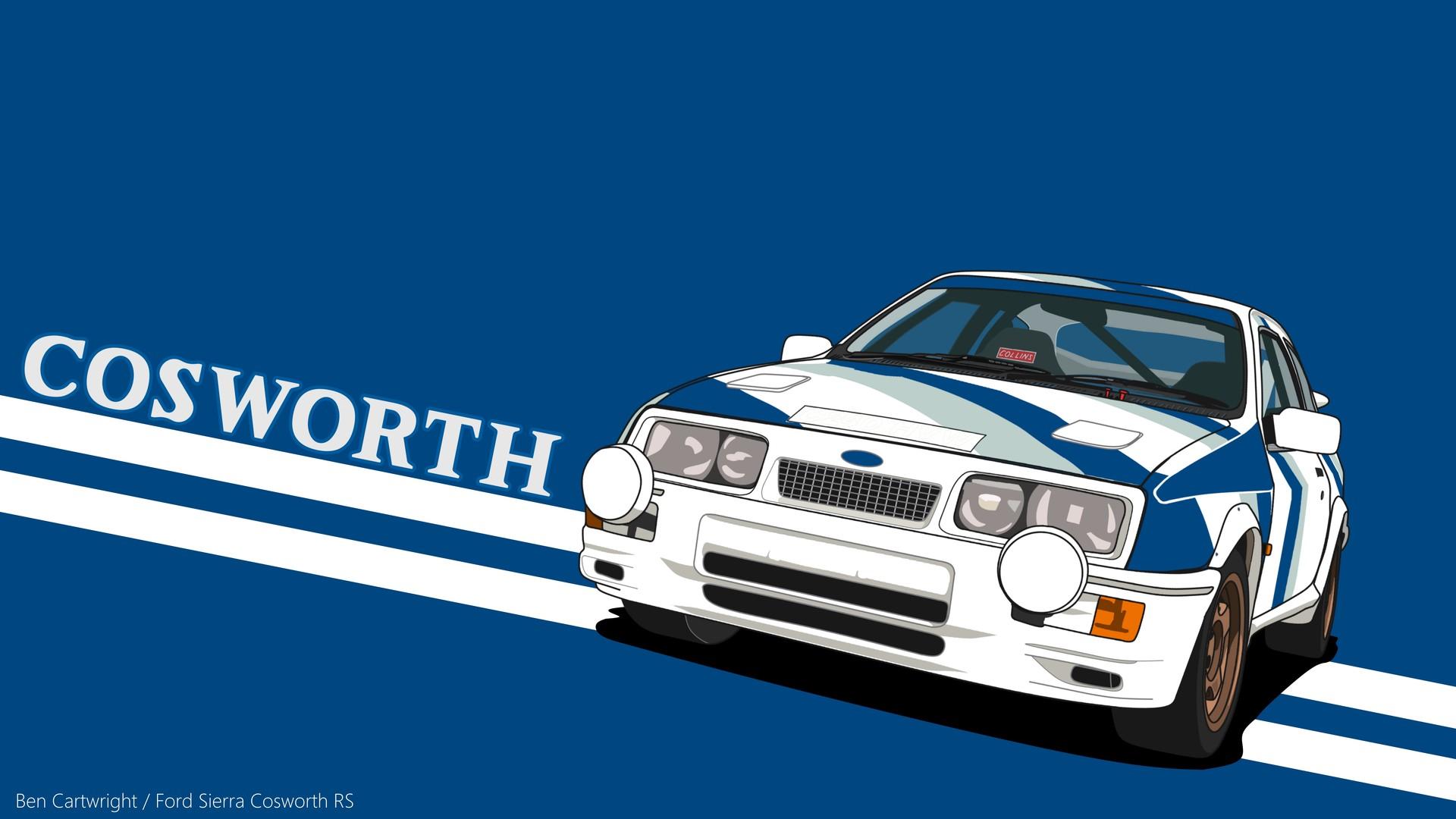 ArtStation - Ford Sierra RS Cosworth , Ben Cartwright