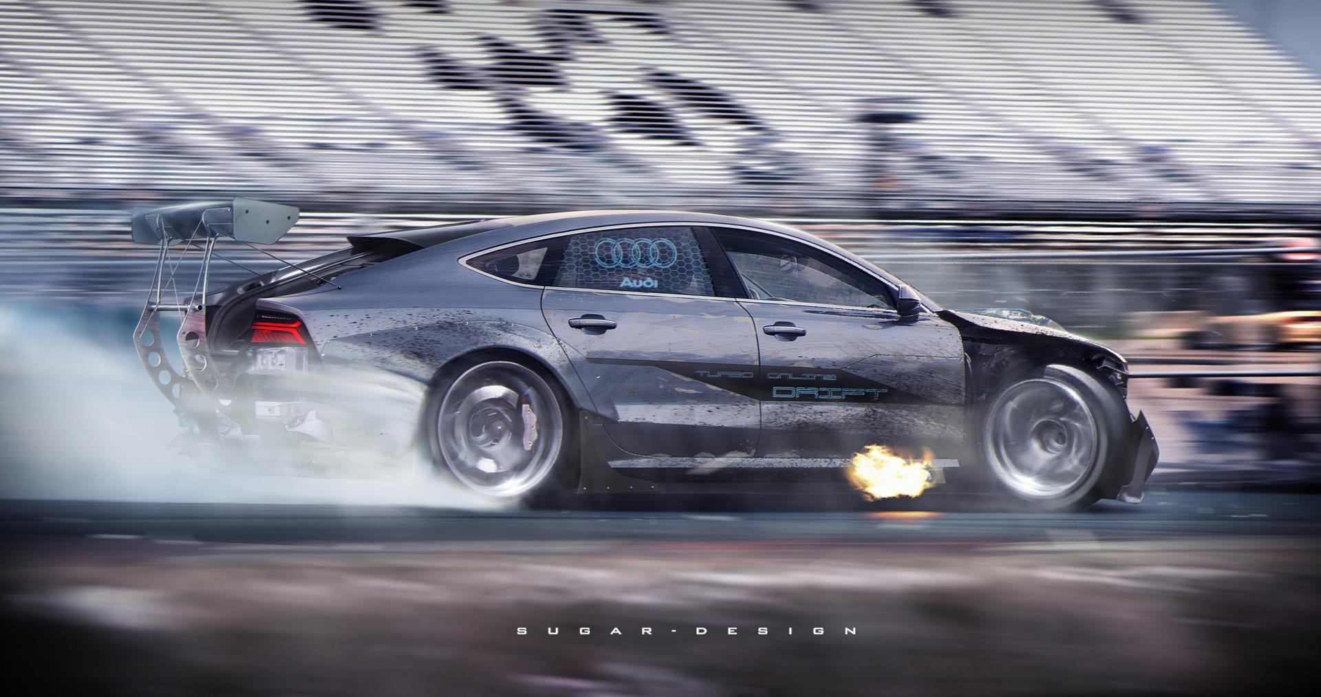 Artstation Audi Rs7 Drift Racing Sugar Chow