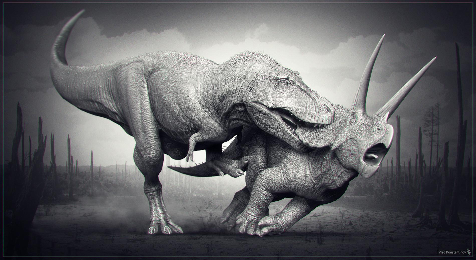 Dinosaurs T Rex Vs Triceratops
