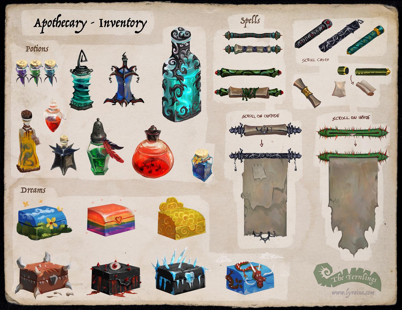 Johanna rupprecht lyraina fernlings apothecary inventory2