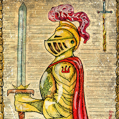 Vera petruk samiramay 1 2 the old tarot card knight of swords