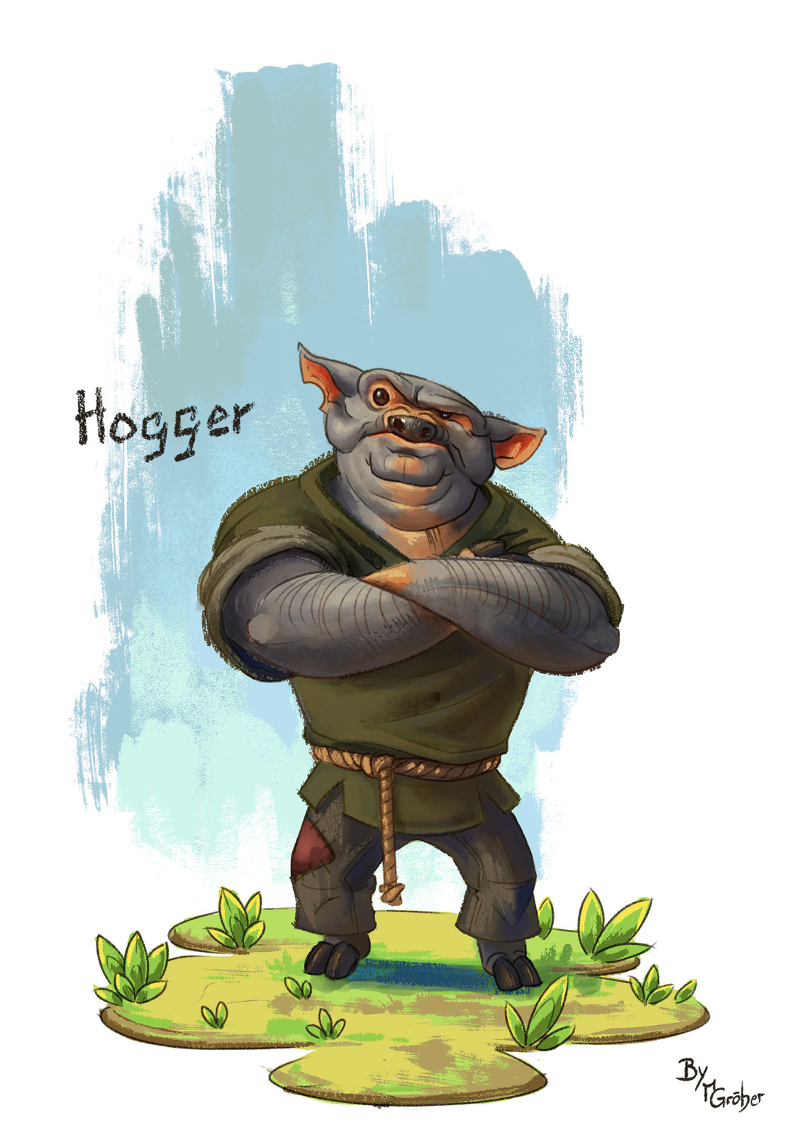 Hogger character painting
