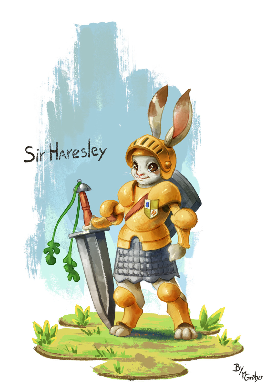 Sir Hareslay character painting