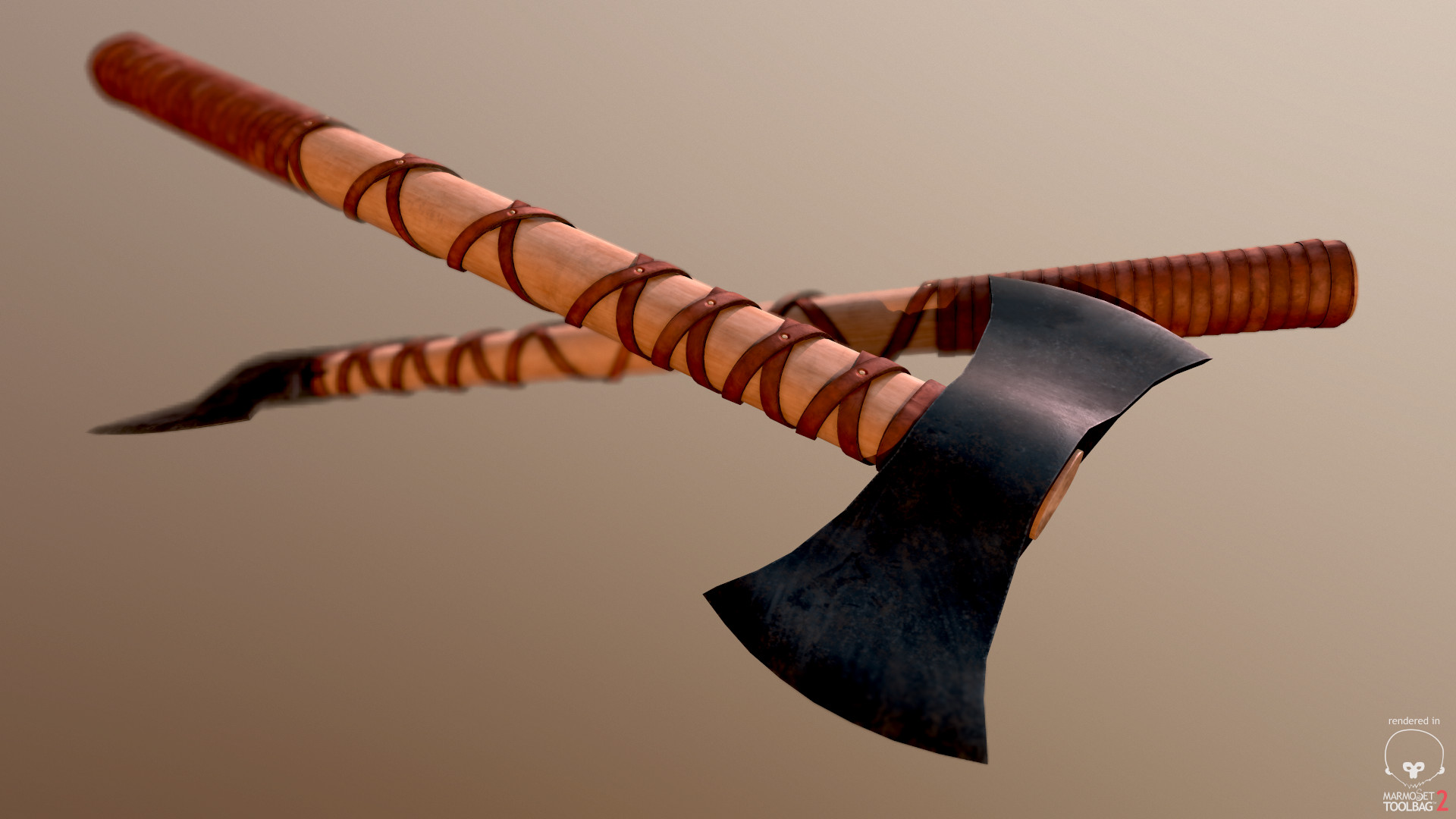 Bela csampai two headed viking axe preview mt 02