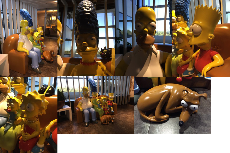 The Simpsons - Life sized installation by Gorilla Constructions