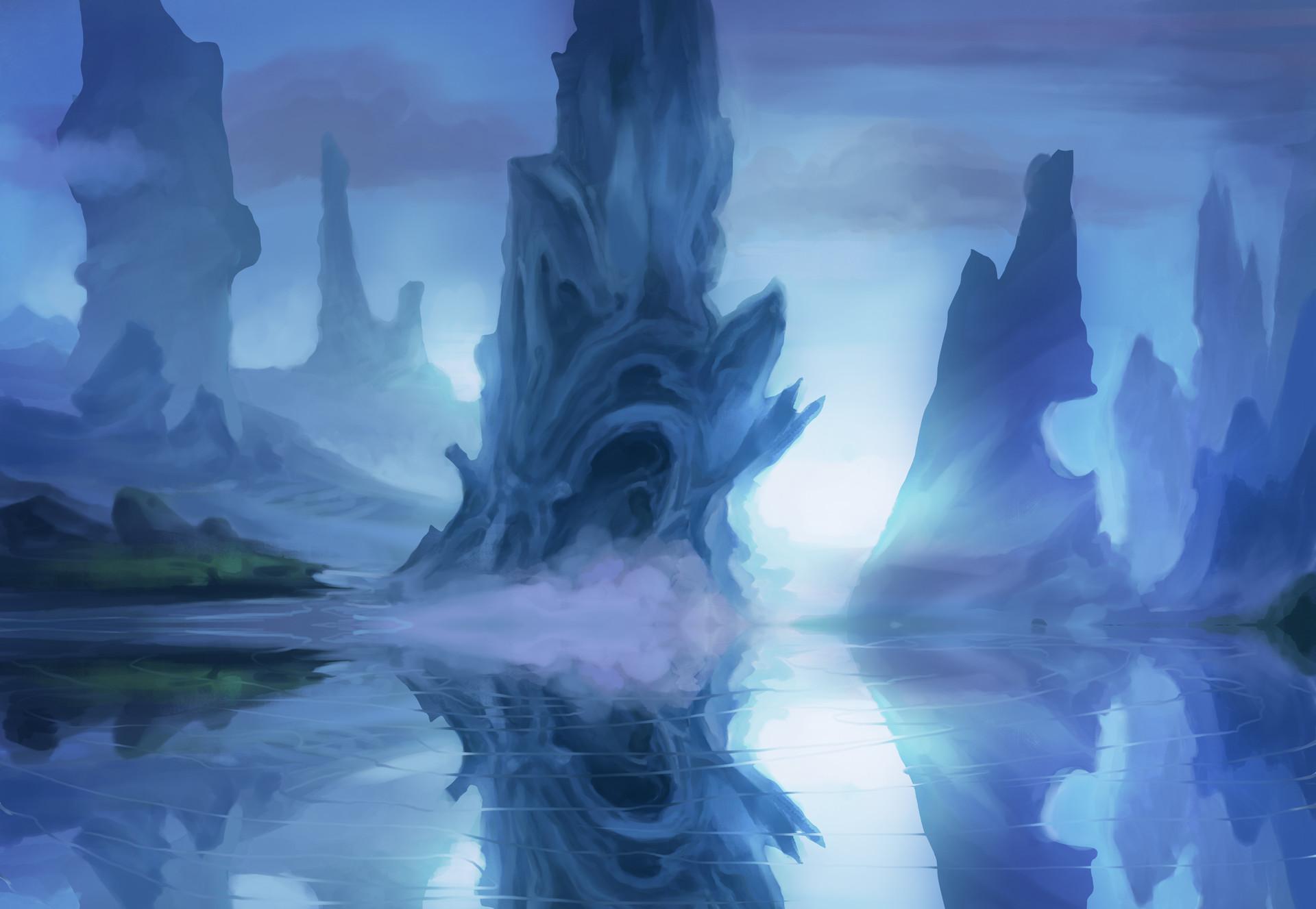 Josiah herman icy alien landscape