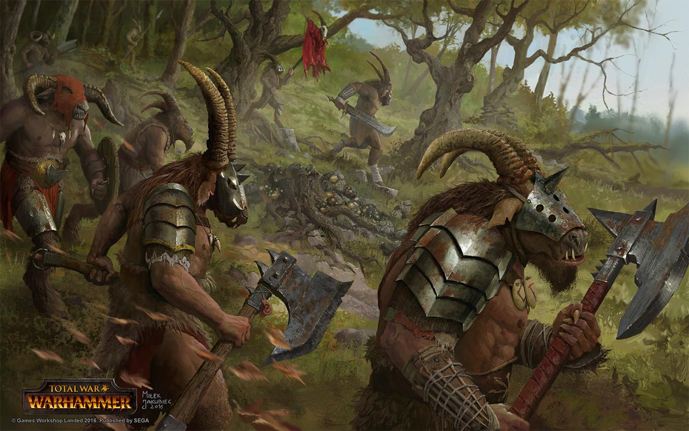 [Warhammer Fantasy Battle] Images diverses - Page 4 Milek-jakubiec-beastmen-loading-screen