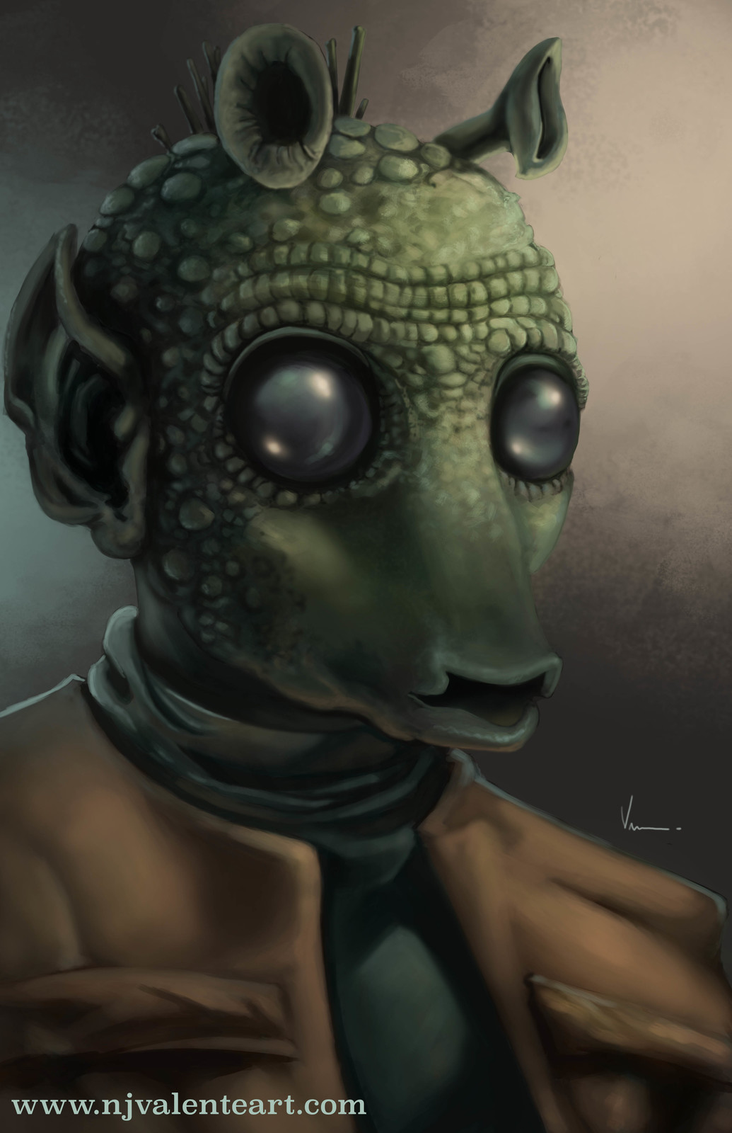 Greedo digital portrait