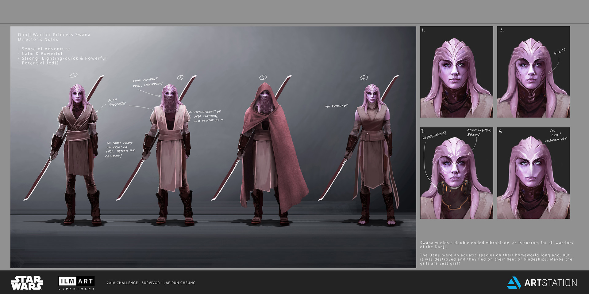 Lap pun cheung the job character design danji warrior princess swana concept art 001 online