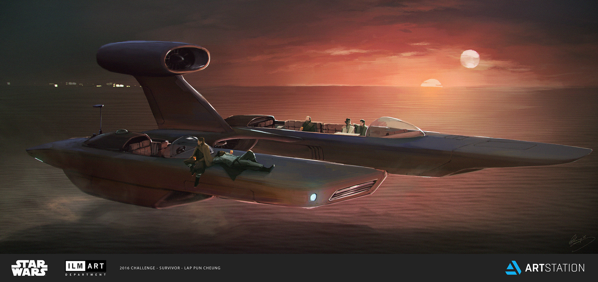 ILM Art Department Challenge - The Ride - X99 Luxor Landspeeder