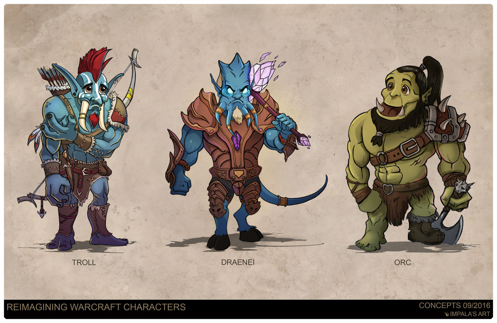 Artstation Reimagining Warcraft Races Vlad Impala