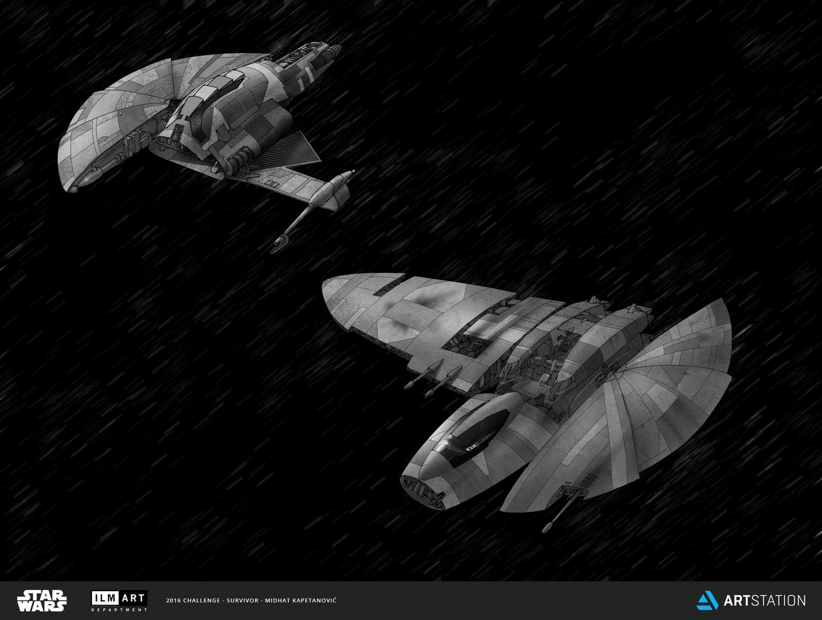 Danji fighter and interceptor craft concepts