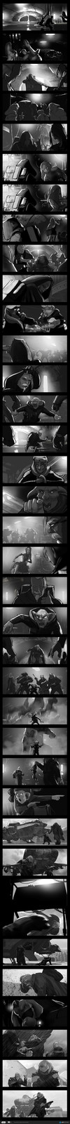 Cantina Showdown Storyboard sequence
