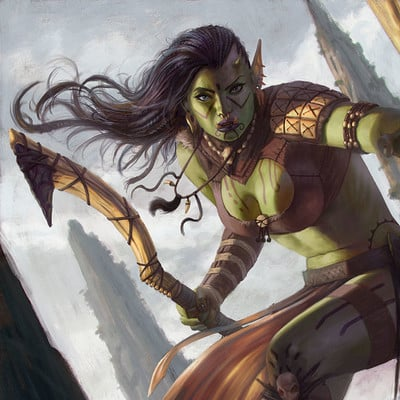 Rafael teruel hex orc female rogue lvl1 03 by rafater