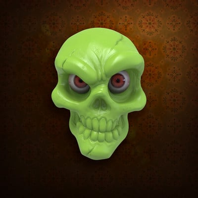 Jake angell skull green2