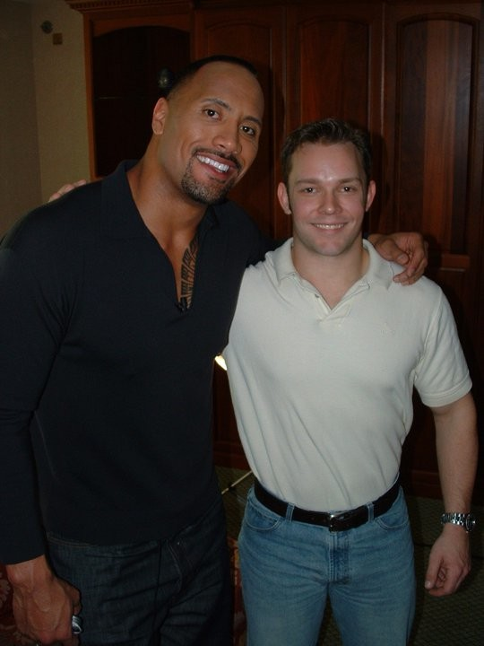 Me with Dwayne Johnson