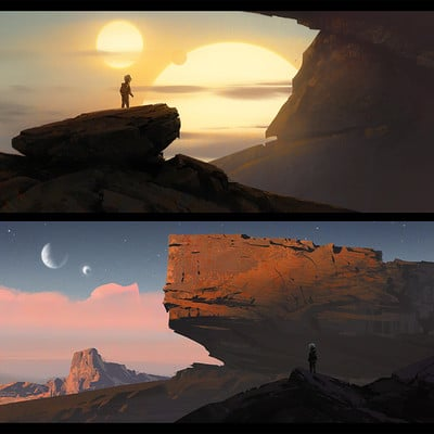 Quentin mabille sunset alienplanet1 compo2
