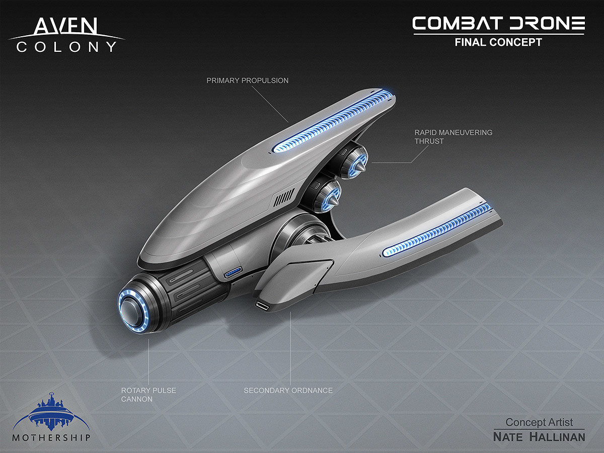 Nate hallinan ac drone combat concept