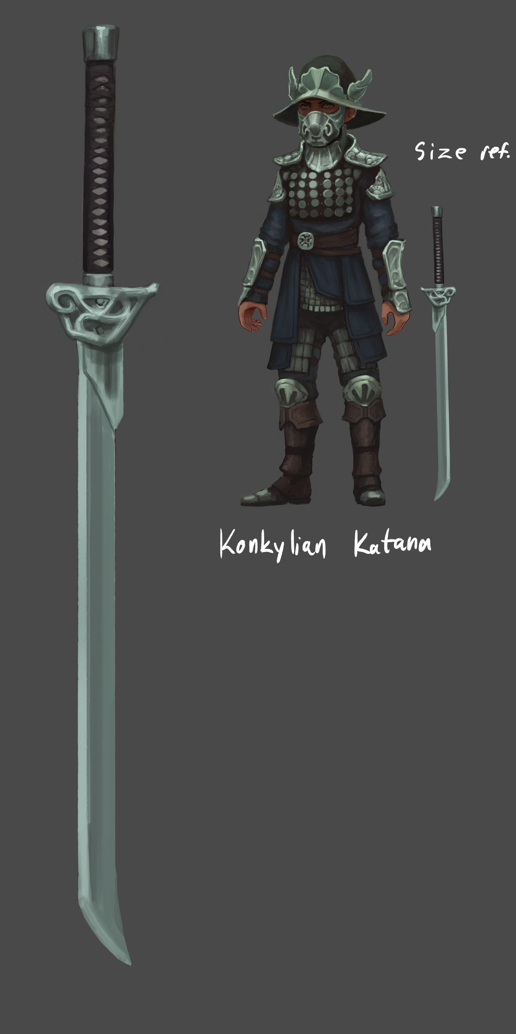 Fredrik dahl conceptart weapon konkylia katana