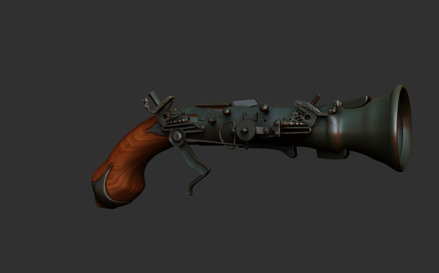 Fabricio rezende gun z brush render