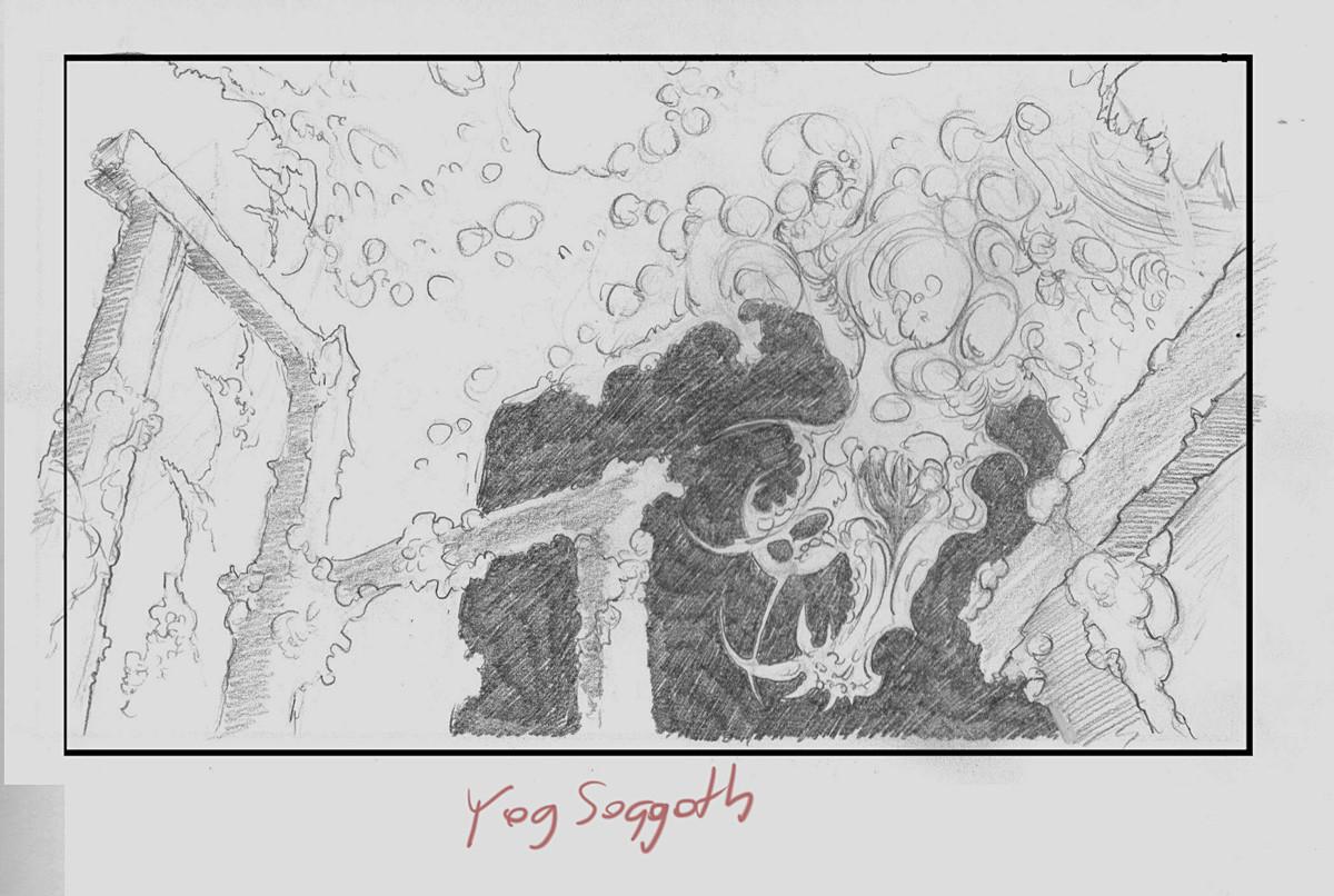 Mariusz gandzel yog sothoth sketch