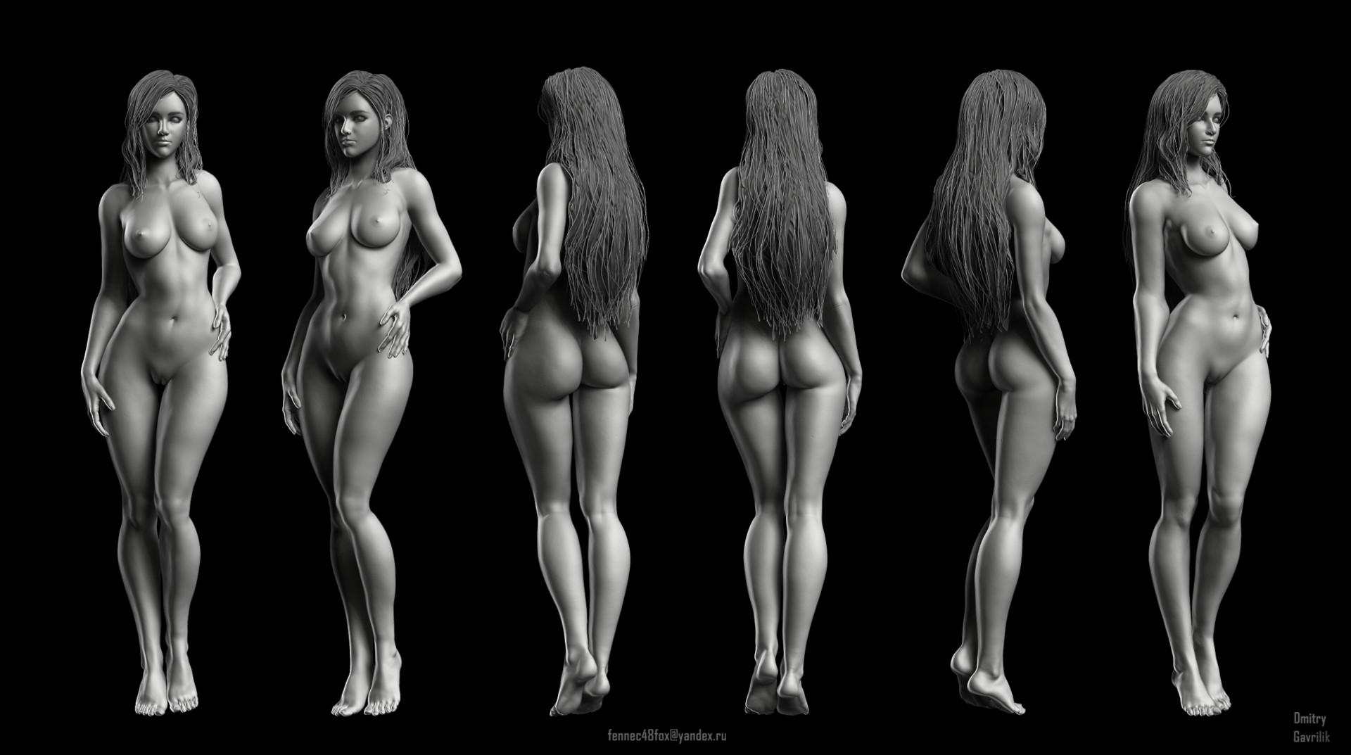 Artstation Female Anatomy Study Dmitry Gavrilik