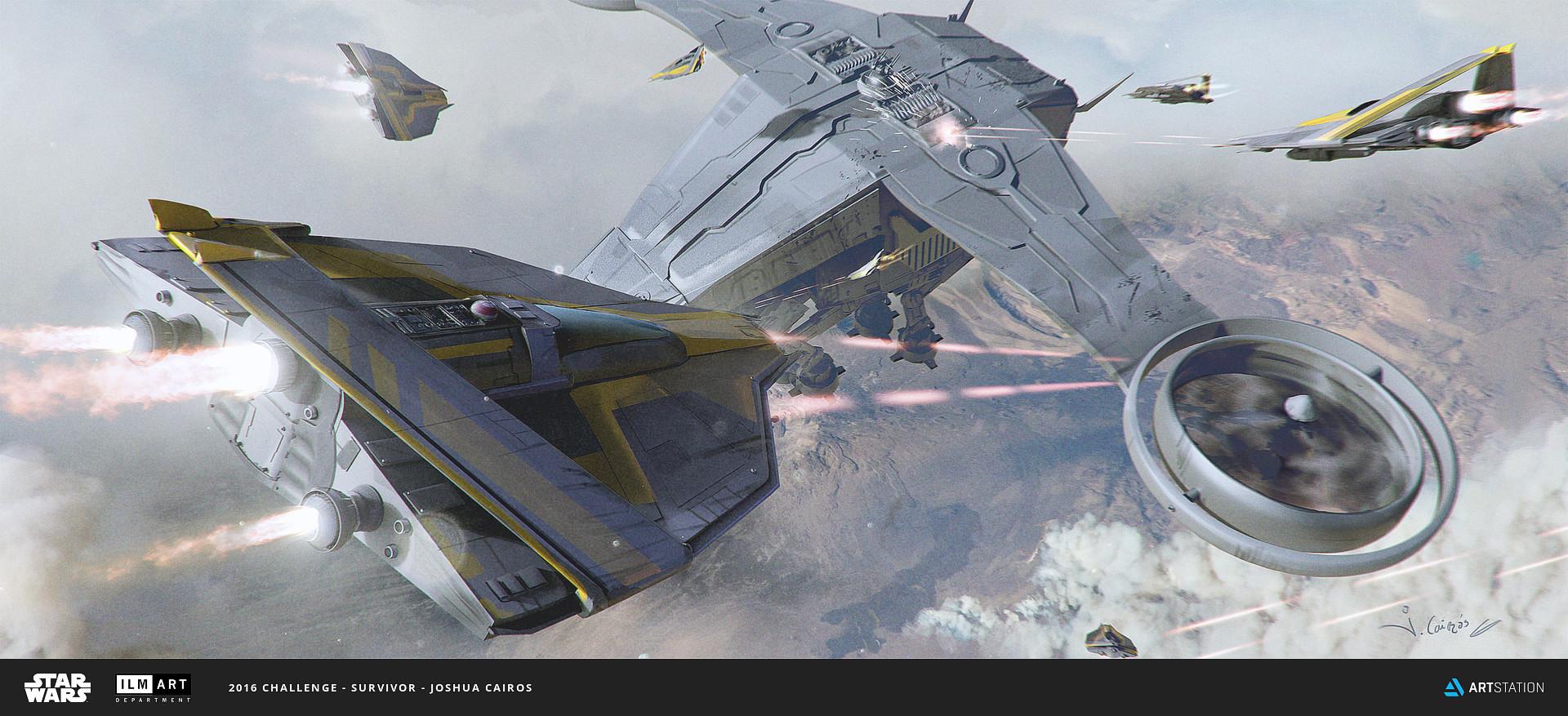 Joshua Cairos Star Wars Ilm Art Challenge The Ride