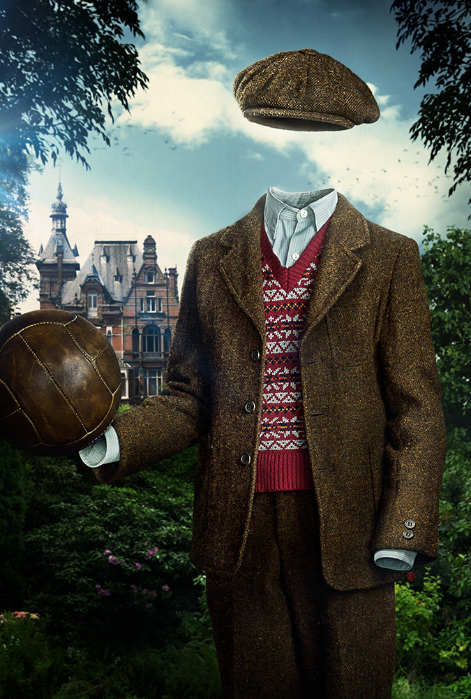 Invisible Boy: Matte painted aspects of background and surrounding environment to match original composition design. Painted out actor from studio photography and reposed character.