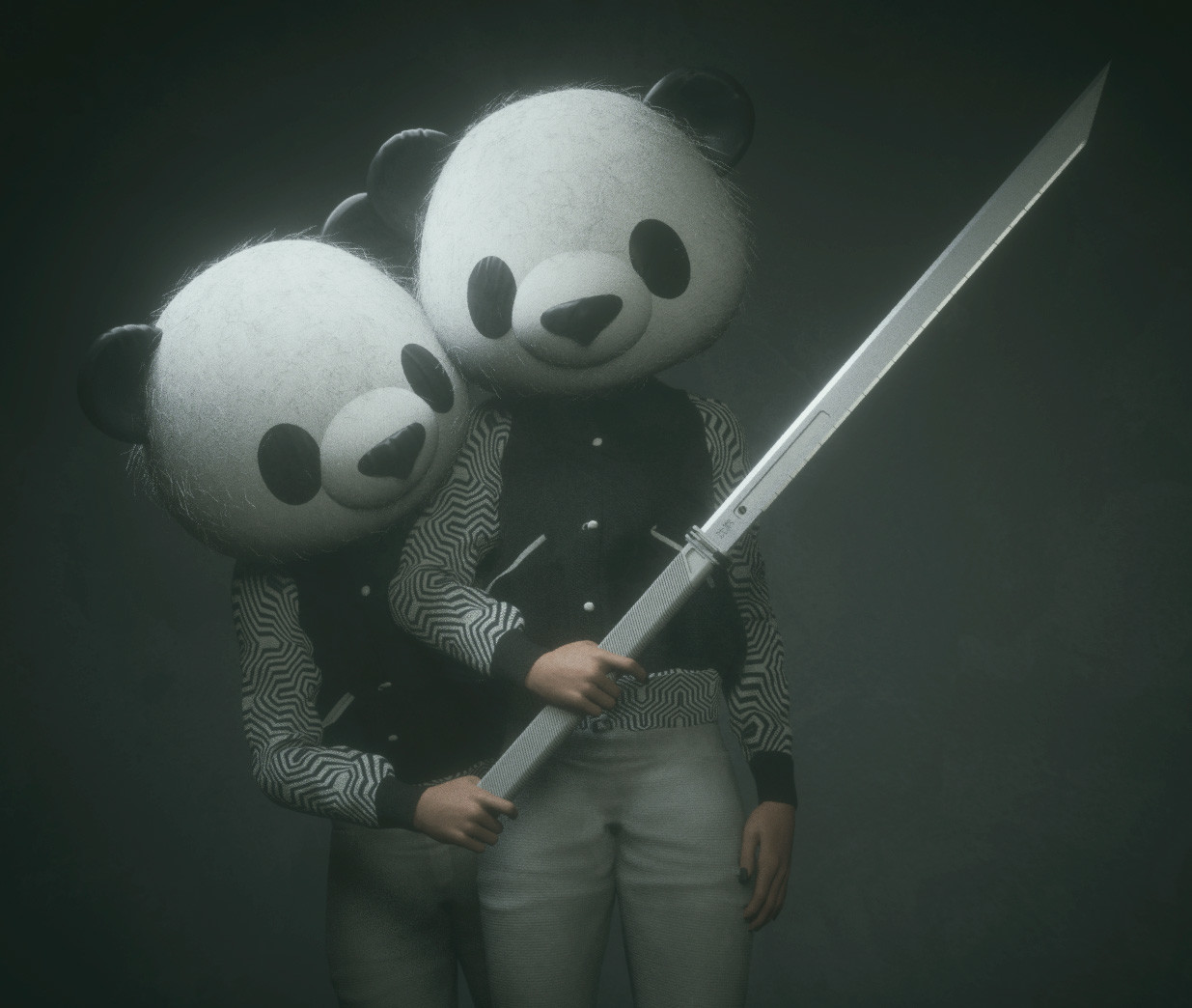"""""""Quick honey, do that pose where you hold my sword""""."""