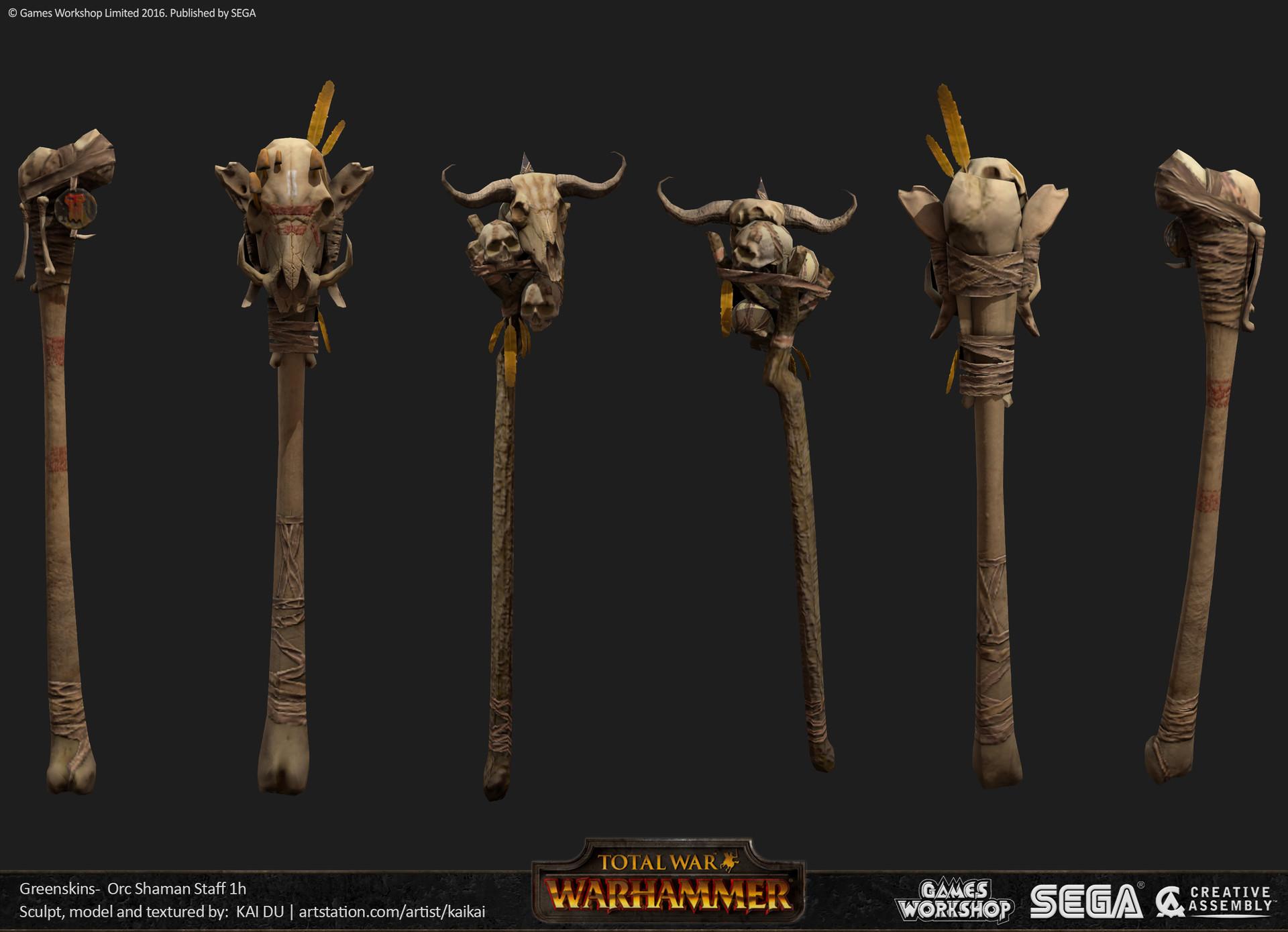 Kai du kaiceps kaid grn orc shaman staff 1h 01