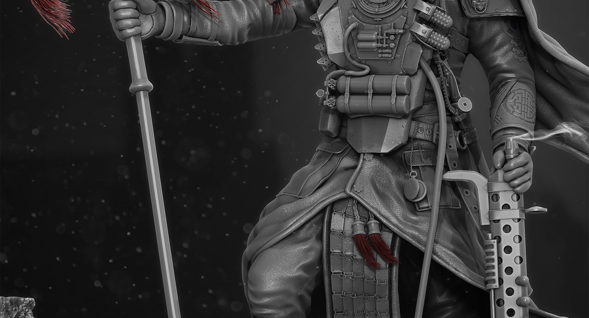 jordan hey korean steampunk warrior