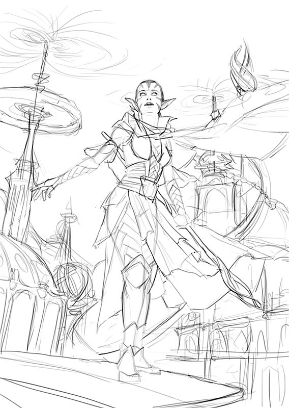 1. Line sketch