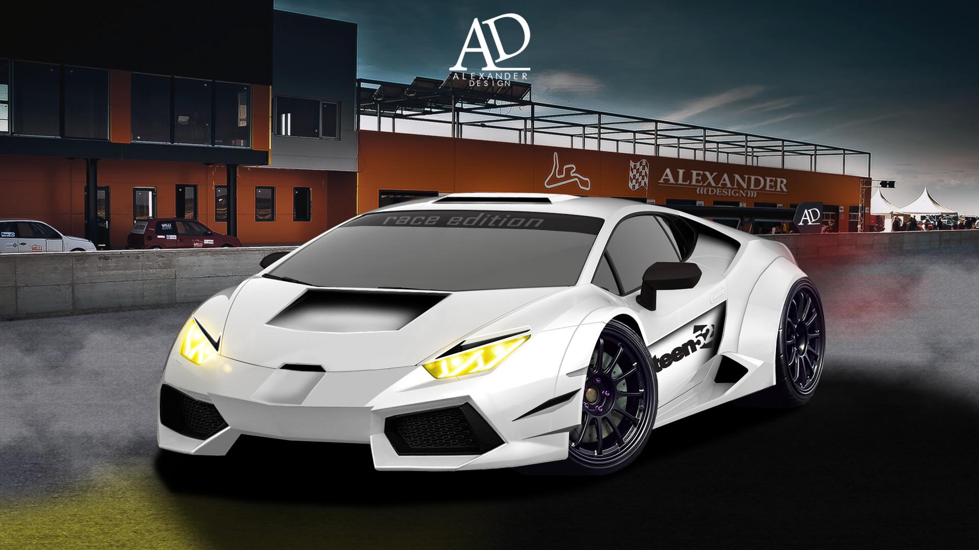 Artstation Lamborghini Huracan Race Car Alexander Design