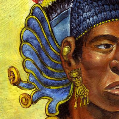 Christiane clados aztecwarriorearornamentcottonarmour