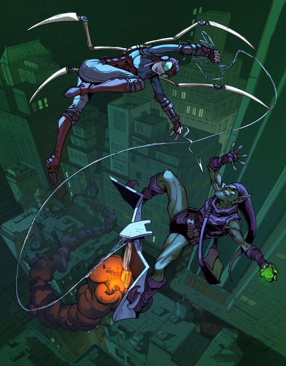 Harrison yinfaowei lady spider vs green goblin by max dunbar 3