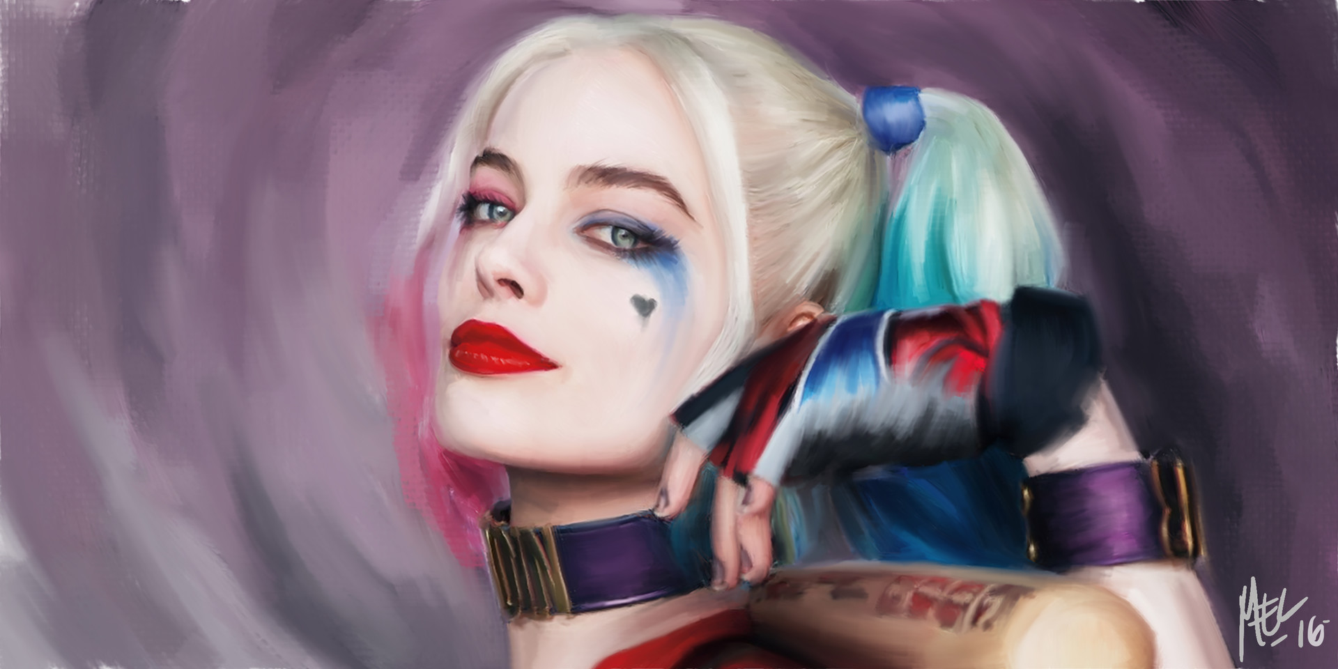 Artstation Harley Quinn Margot Robbie Rommel Panciles