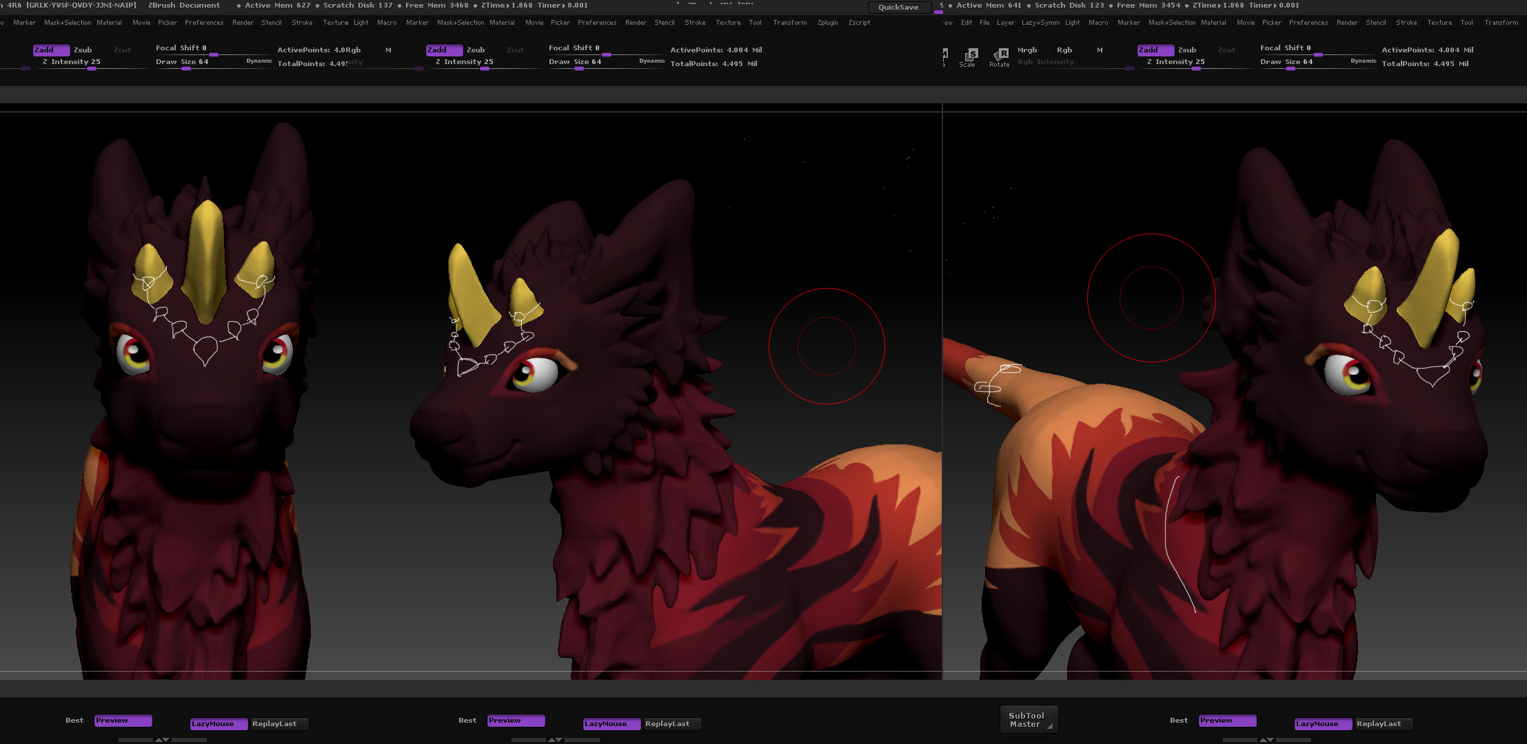 Zbrush: thought idea for horn adornments