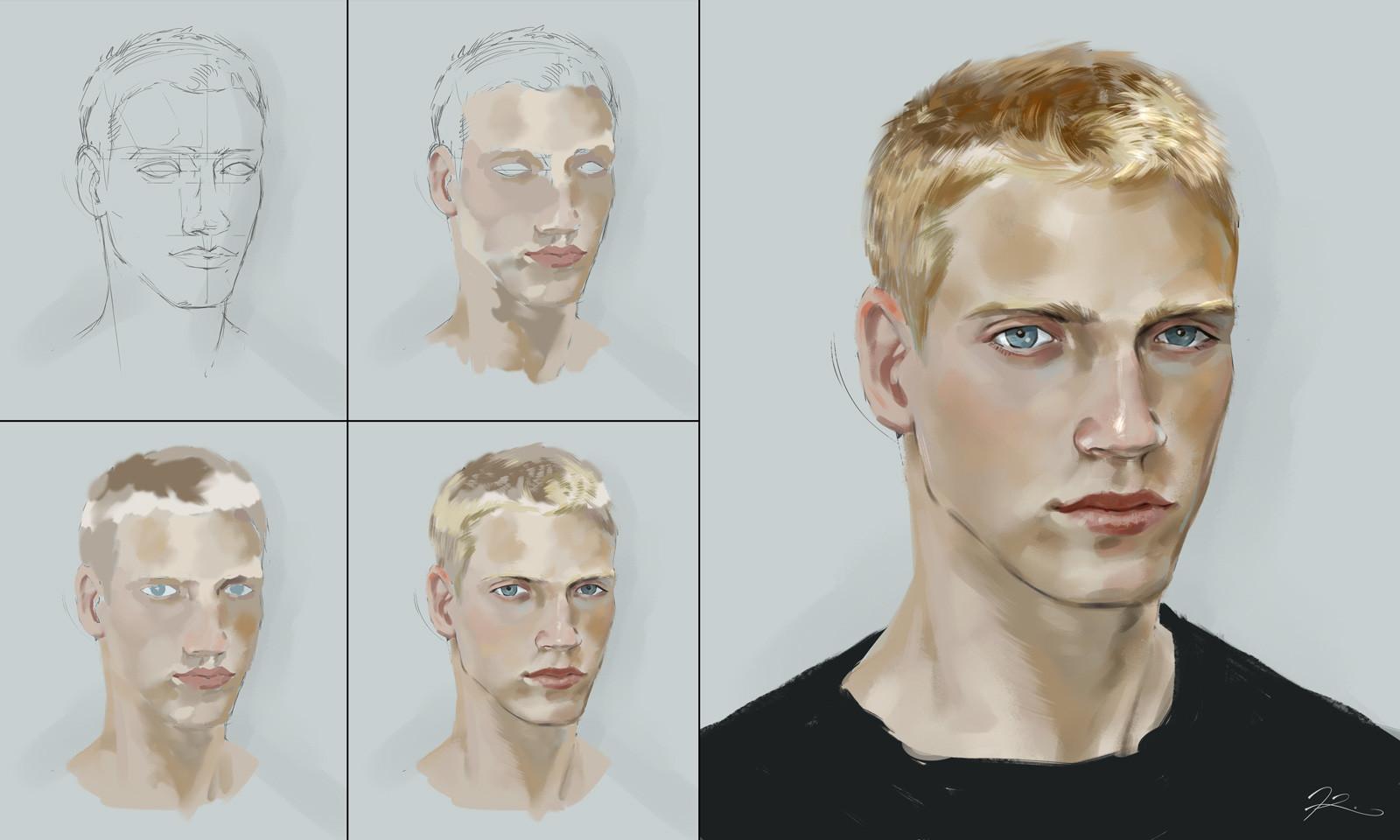 Kevin kwong kwong male portrait study
