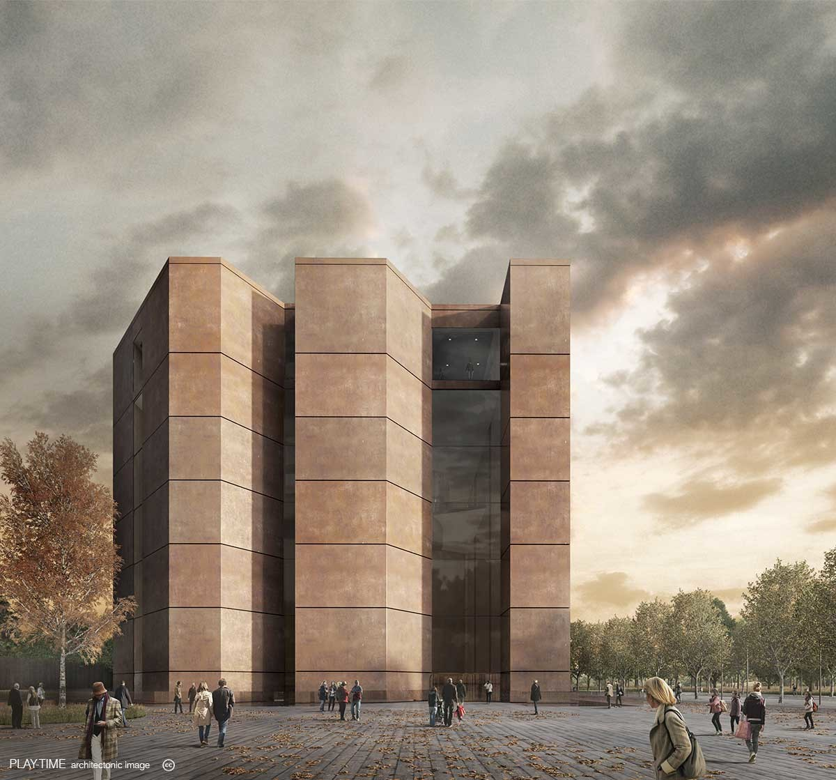 Play time architectonic image oab museum in kazakhstan