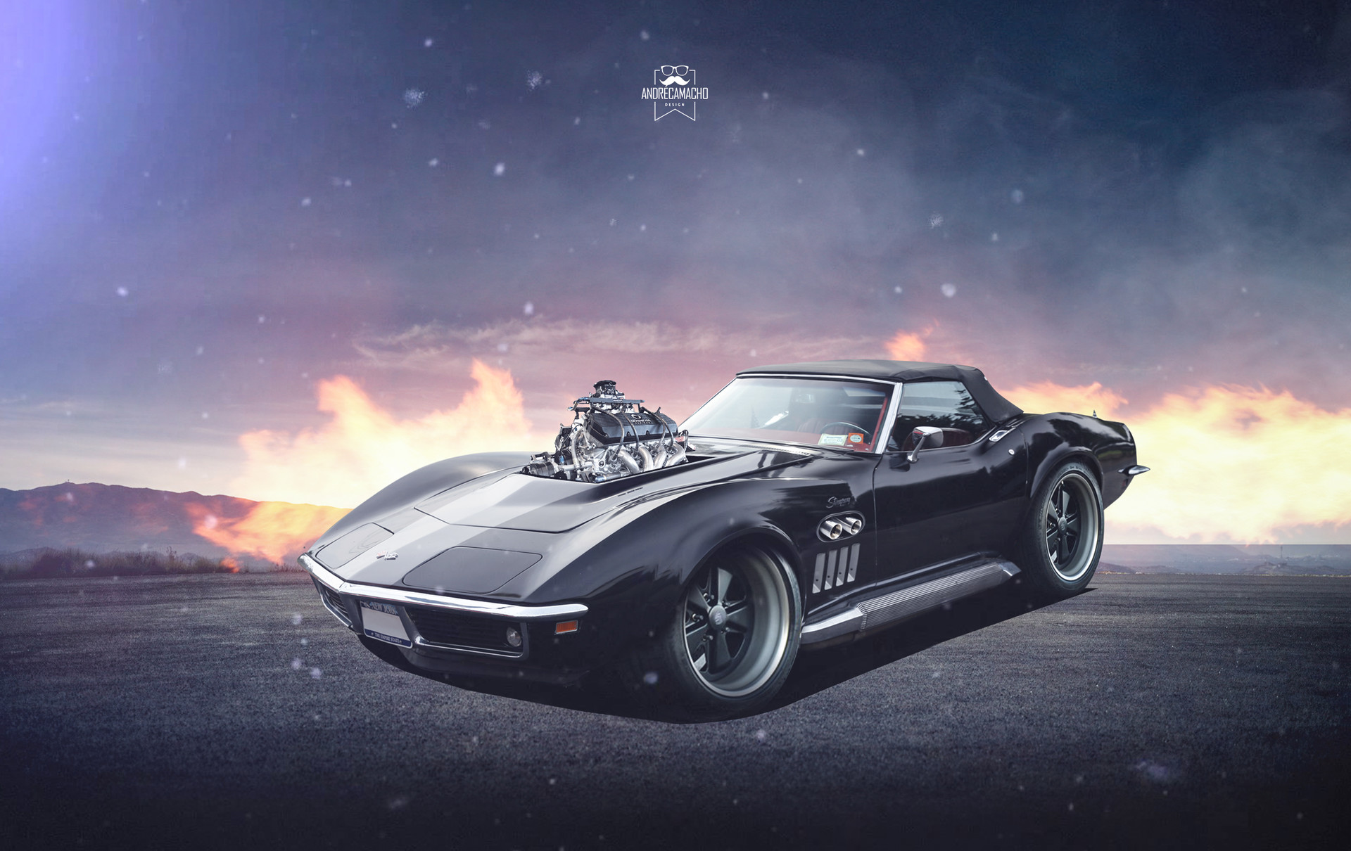 Andre camacho design chevrolet corvette stingray 1969ryuruw