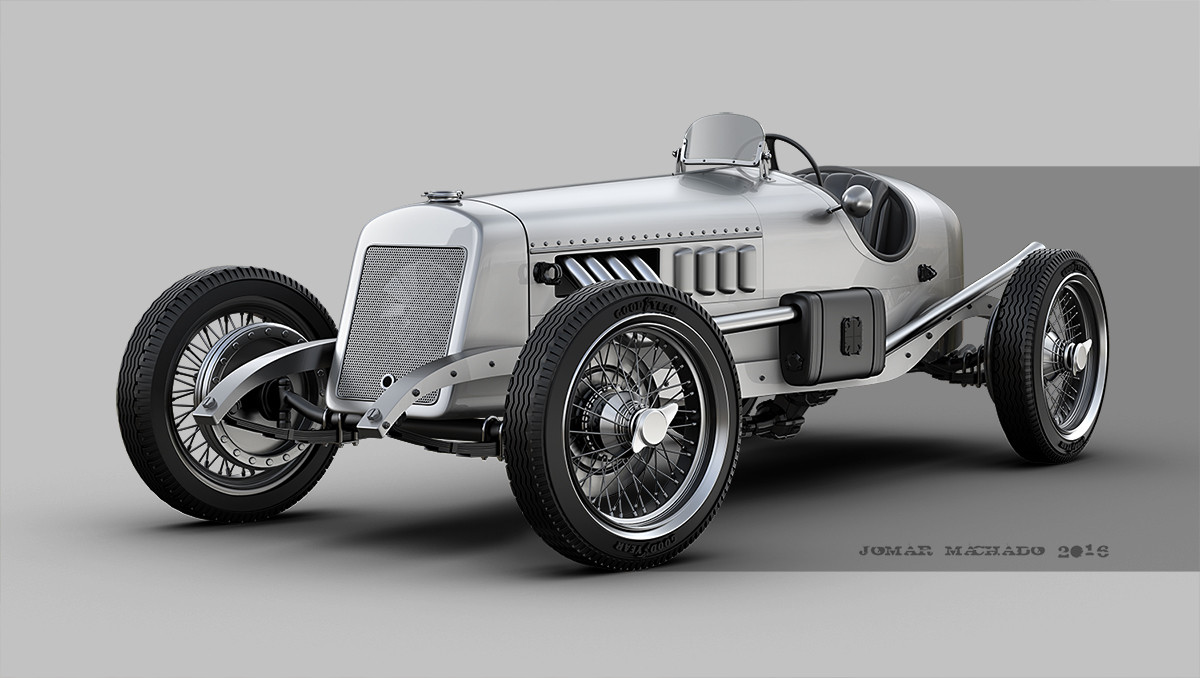 ArtStation - VINTAGE RACE CAR, Jomar Machado