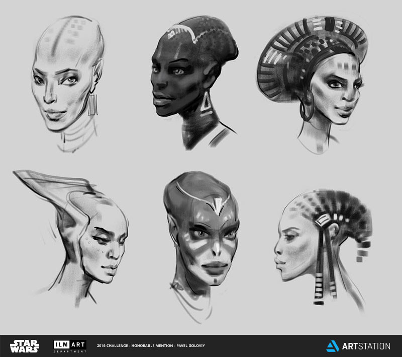 Swana face sketches