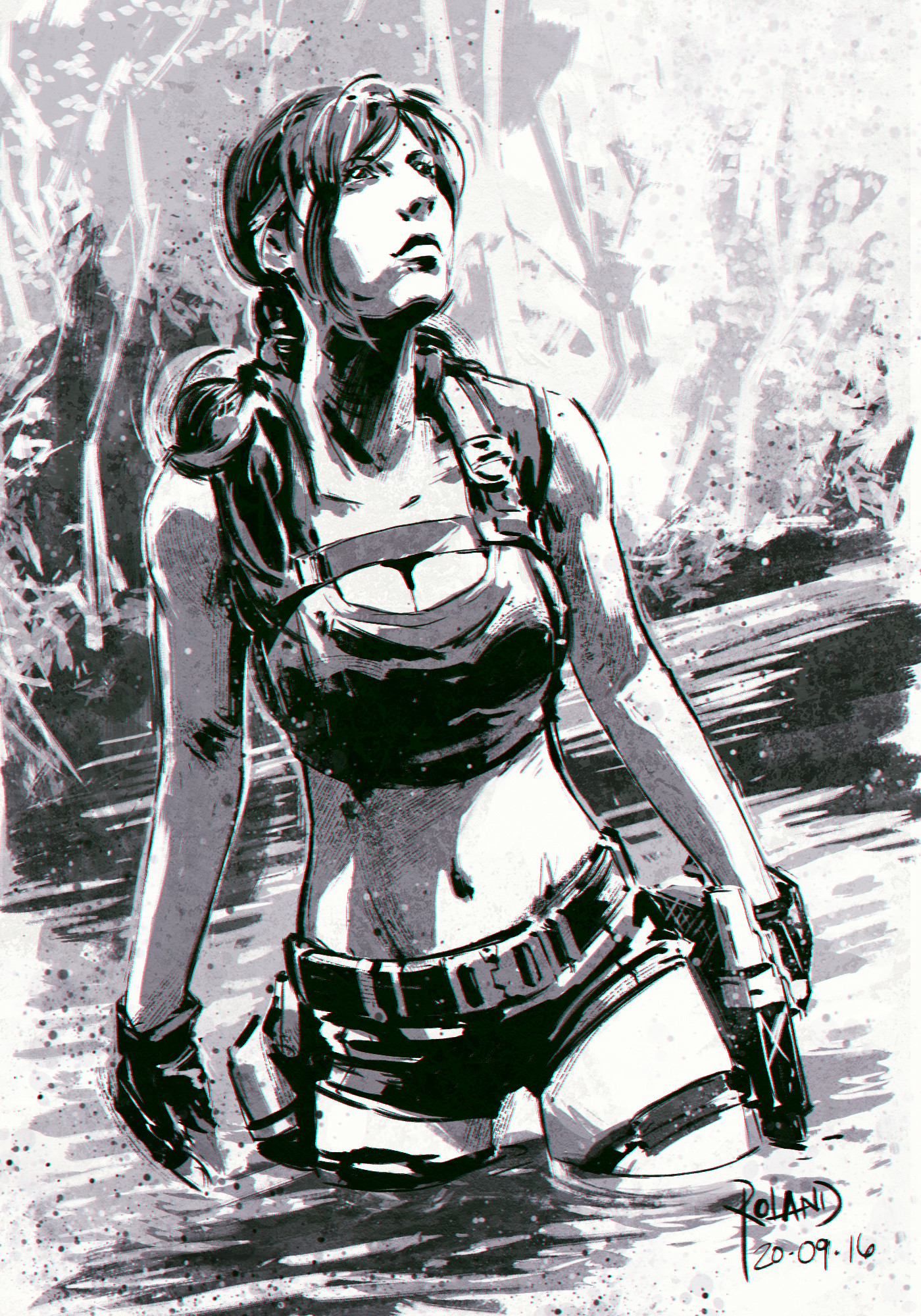 Roland sanchez lara croft sketch 02