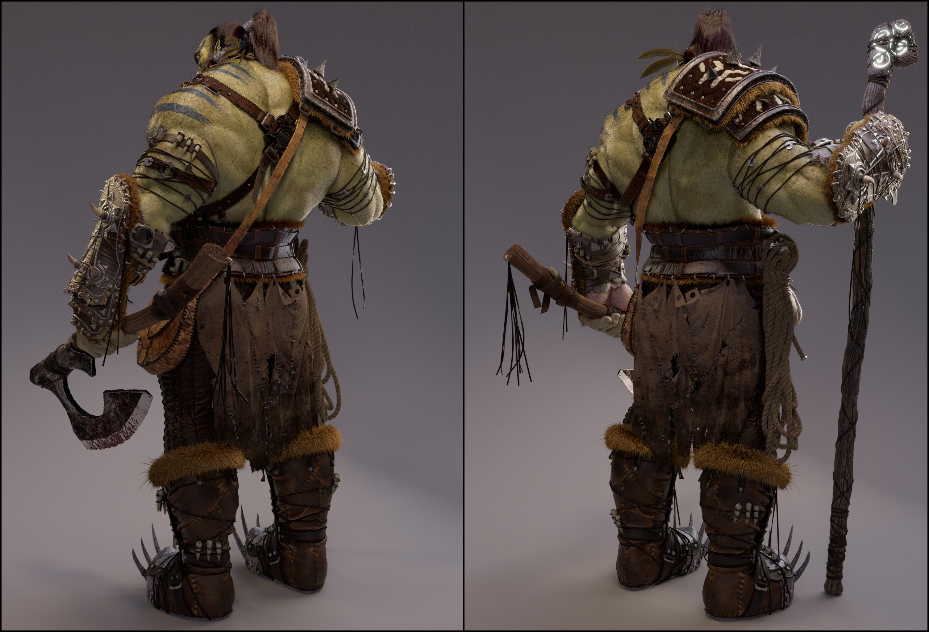 Orc warrior render 2