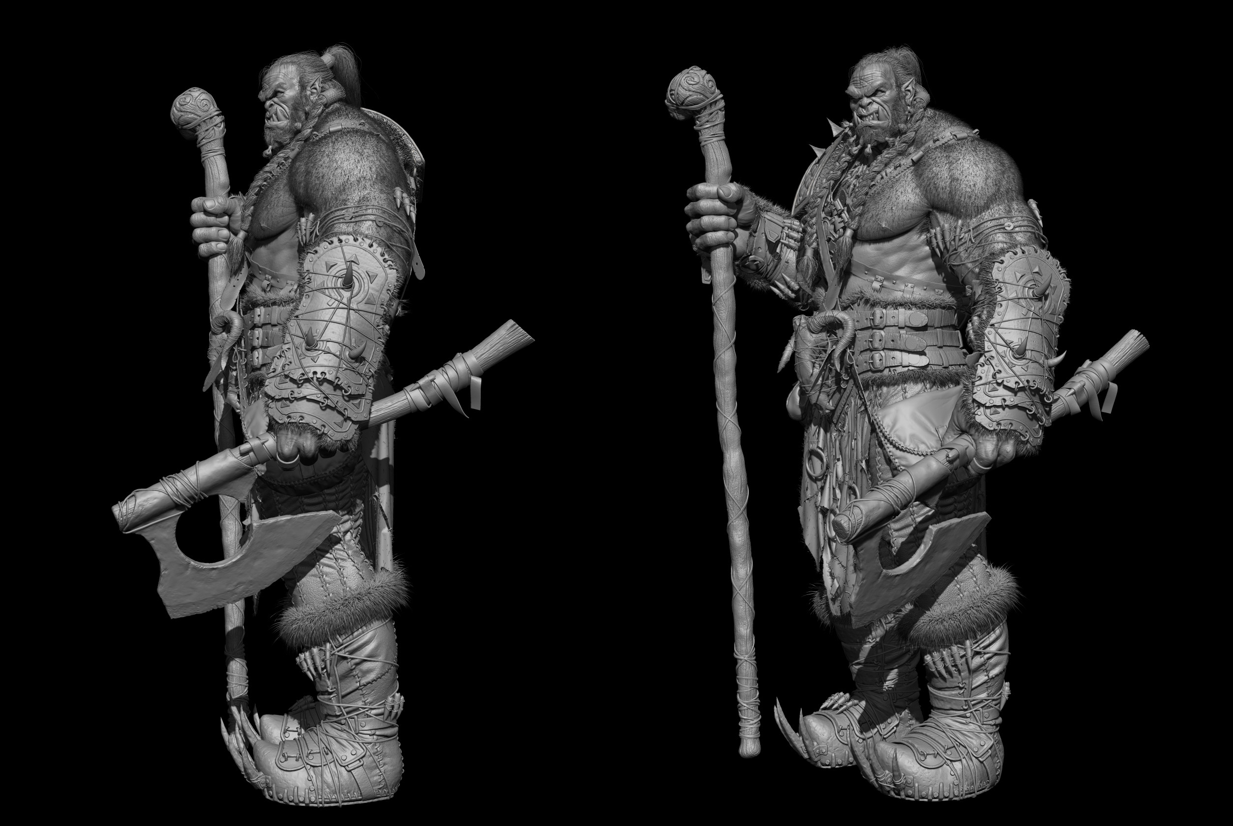 Orc warrior Zbrush screen 4
