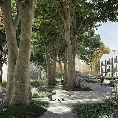 Play time architectonic image rdaa housing in marly france 01